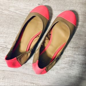 NY&C | Beige and Hot Pink Two Tone Ballet Flats